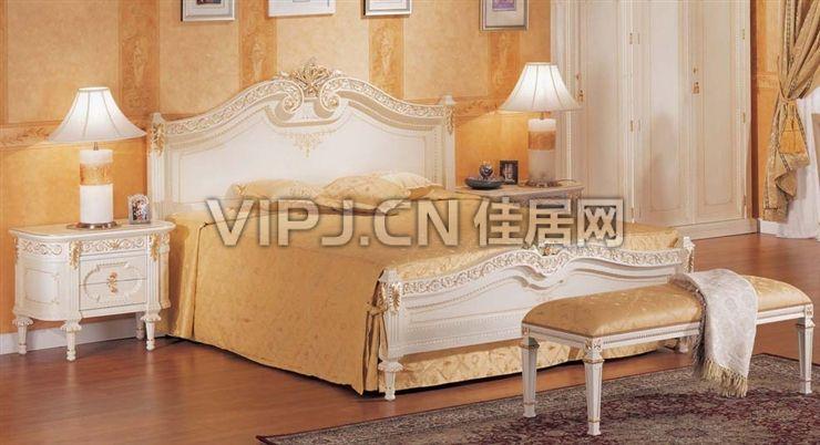 网站,京城别墅豪宅整体家具定制专家 -【欧式卧室床1355】 - 佳居