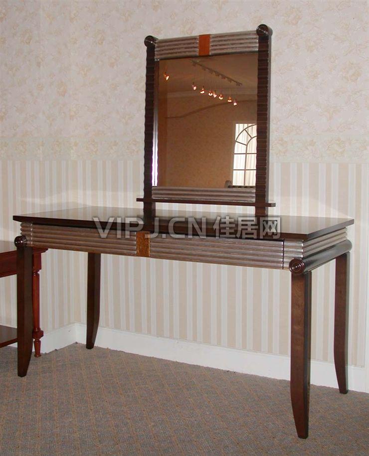 中式卧室梳妆台-镜