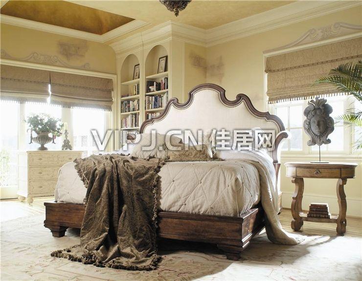 > 美式卧室床图片
