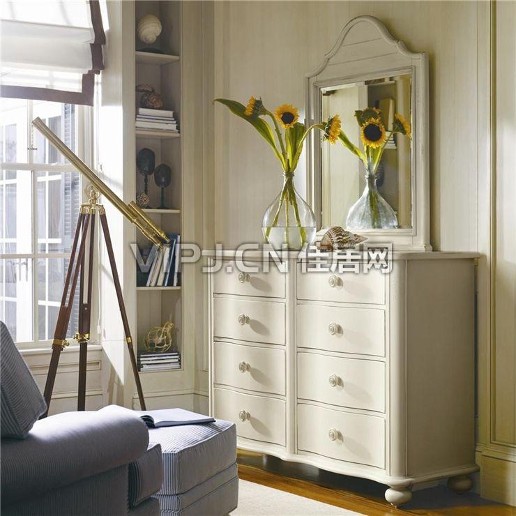欧式卧室梳妆台-镜