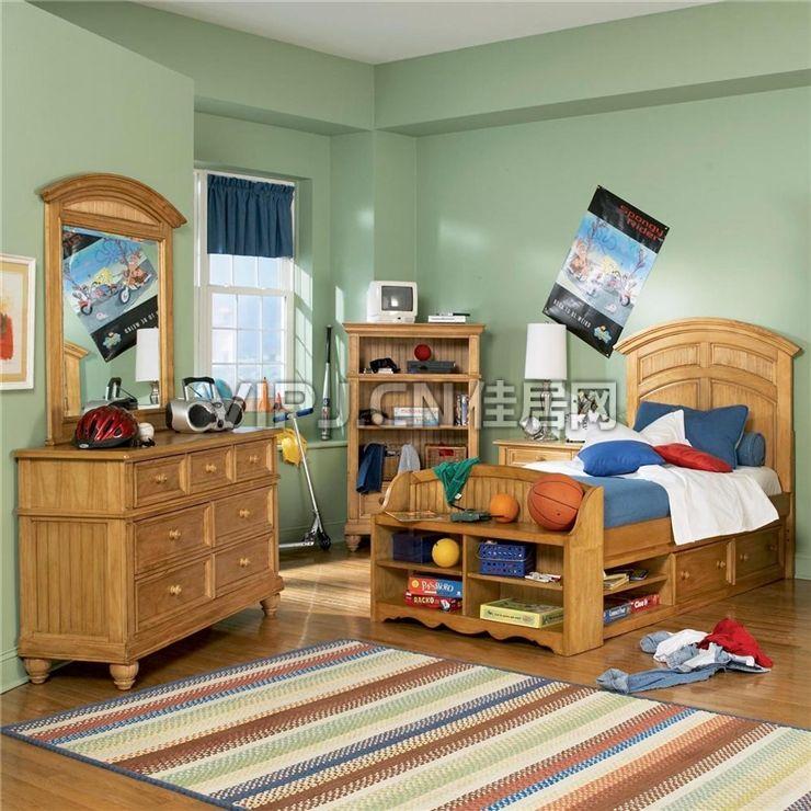 温馨欧式儿童卧室家具套装