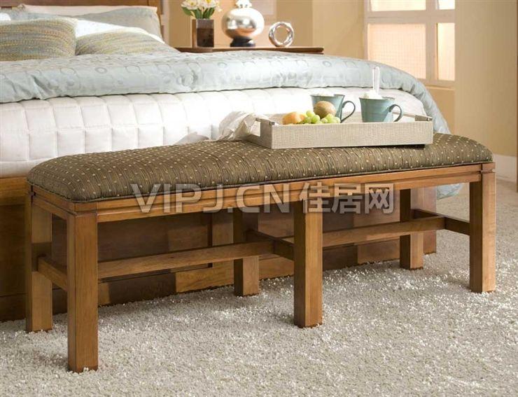 欧式卧室床尾凳-塌