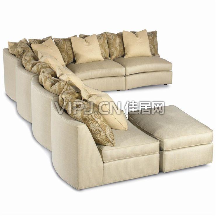 【欧式客厅沙发7422】