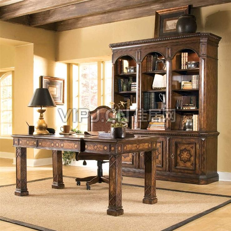 欧式书房书桌