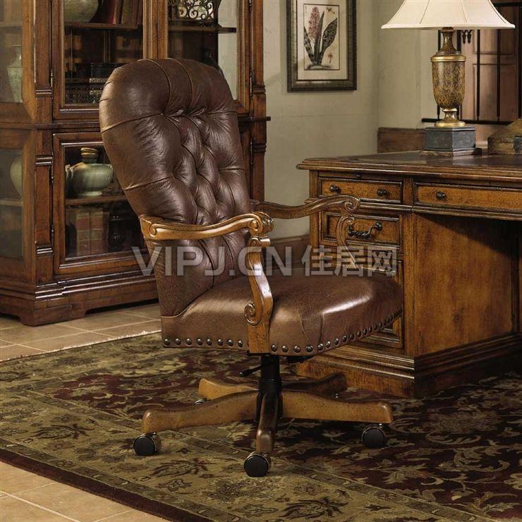 欧式书房书椅