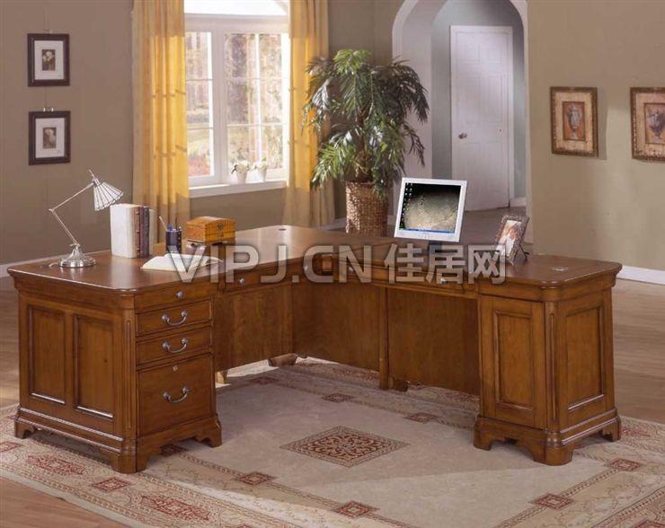 美式书房书桌