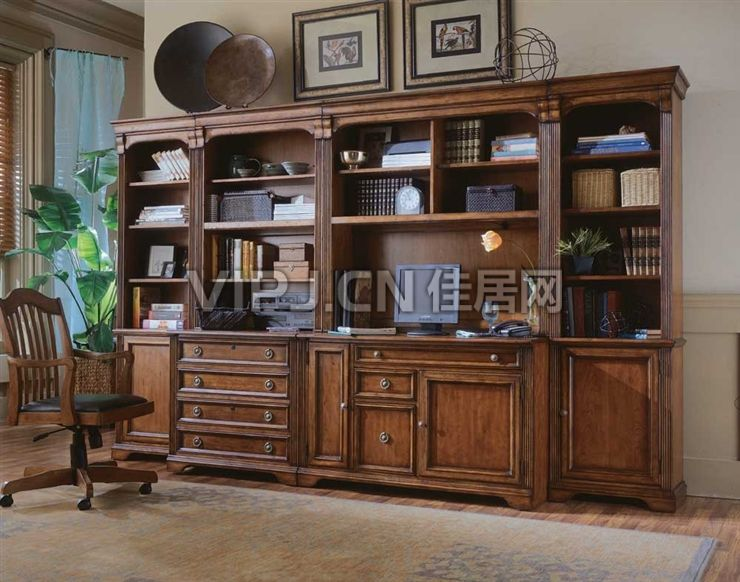 小书房欧式书柜装修效果图大全2