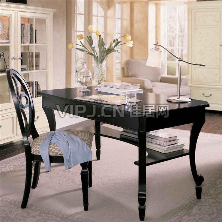 欧式办公桌椅图片