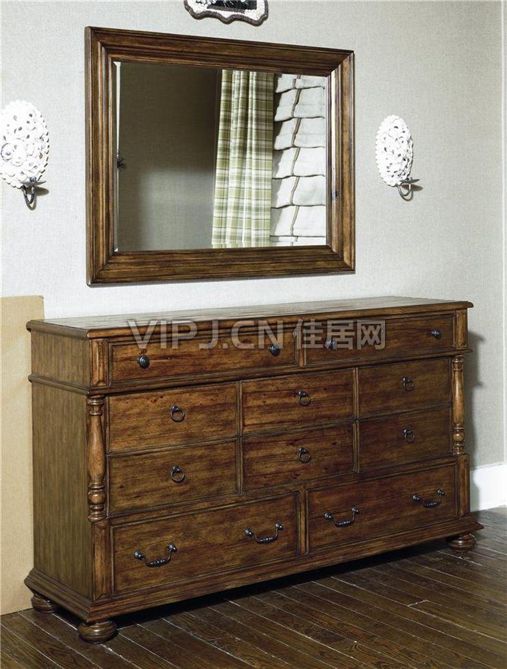 【欧式卧室梳妆台-镜17811】