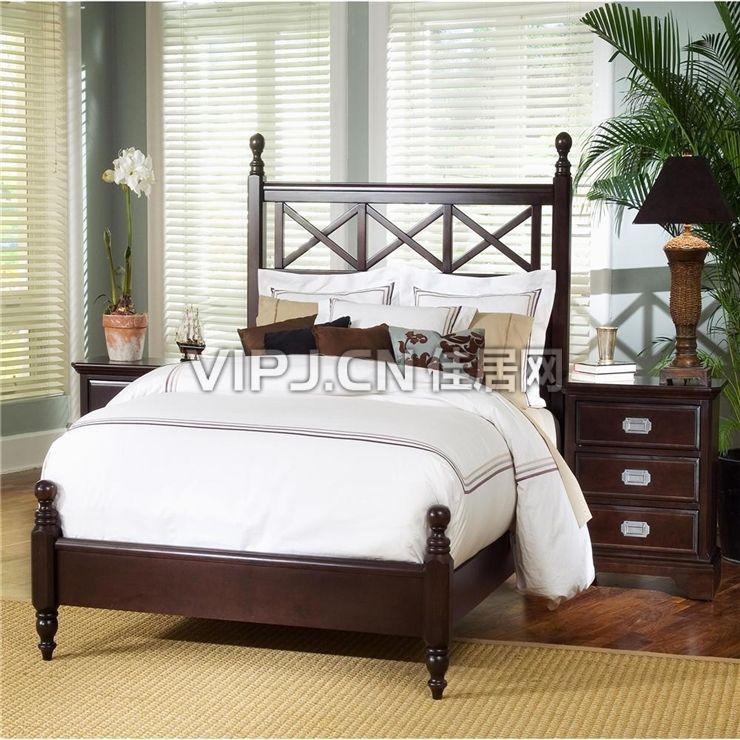 欧式卧室床头柜图片