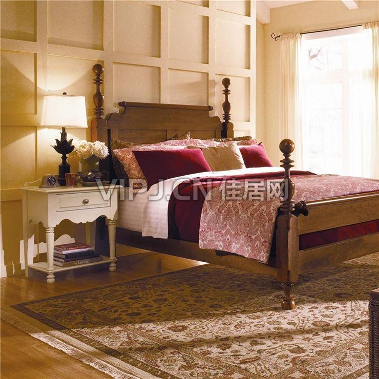 【欧式卧室床头柜18327】