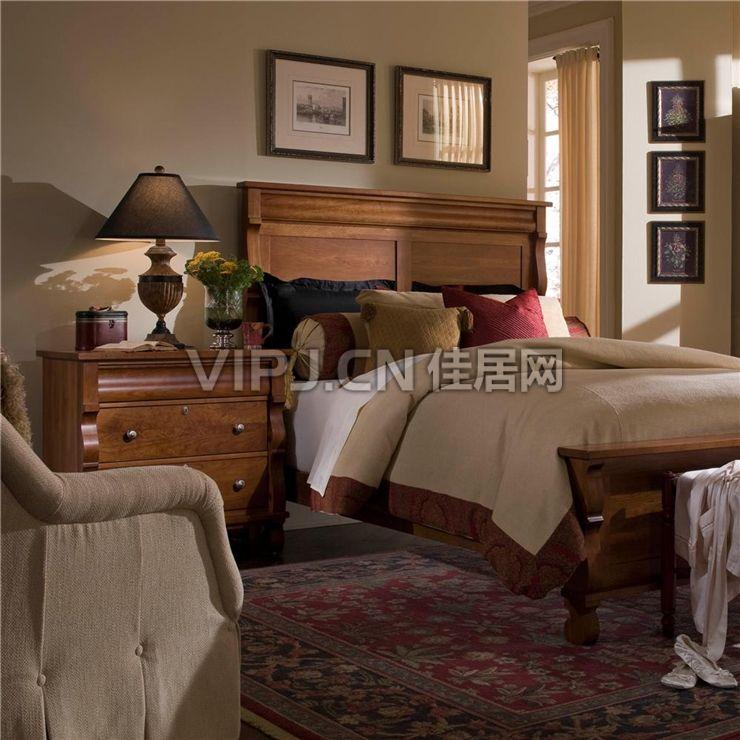 【欧式卧室床头柜18329】