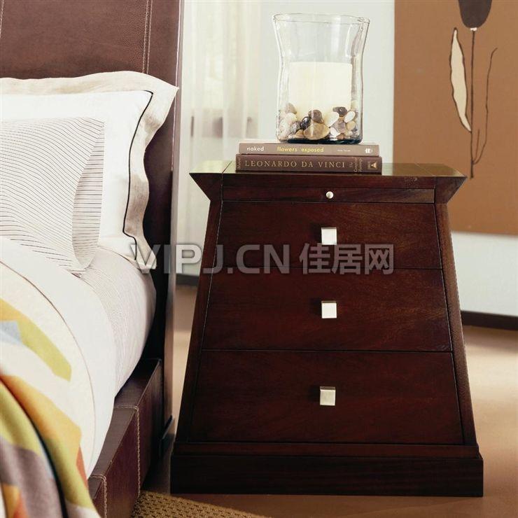 欧式卧室床头柜