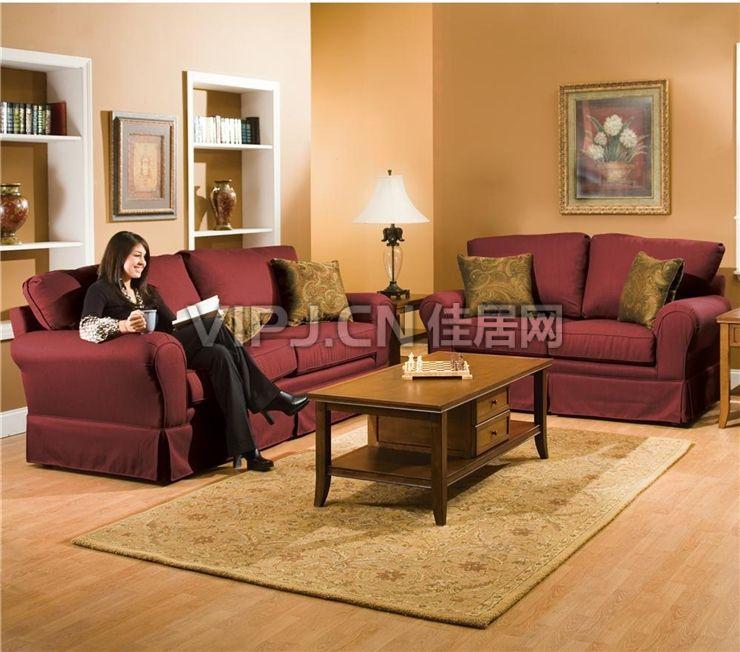 美式客厅茶几图片